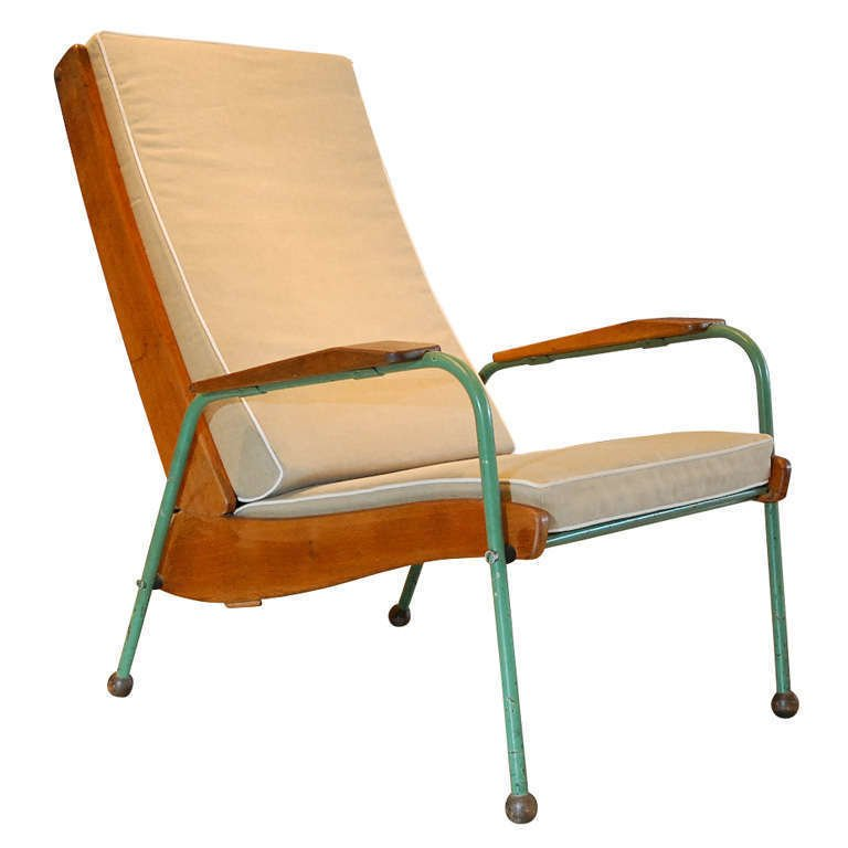 Jean Prouve, Visiteur Lounge Chair , France 1942.  Photo: Galerie Half, via 1st Dibs.  lounge chairs by pulltab