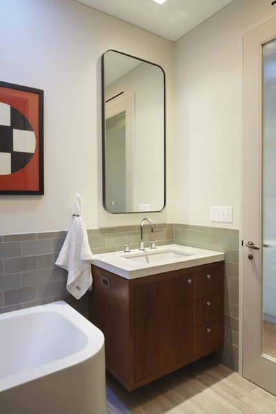 Master bath. Photo 11 of White Street Residence modern home