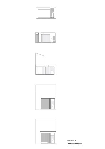 As one moves from the front to the back of the scheme, one experiences the compression and expansion of space vertically and horizontally. Photo 7 of Unité de Rénovation modern home