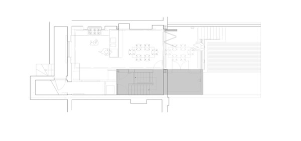 The scheme provides a series of loosely divided interior and exterior spaces split over two levels. Photo 6 of Periscope modern home