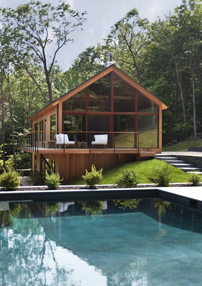Hudson Woods, designed and built by Lang Architecture, is located in the midst of the Hudson Valley at the feet of the Catskill Mountains. Just a 2 hour drive from New York City.   Cabins & Hideouts by Stephen Blake