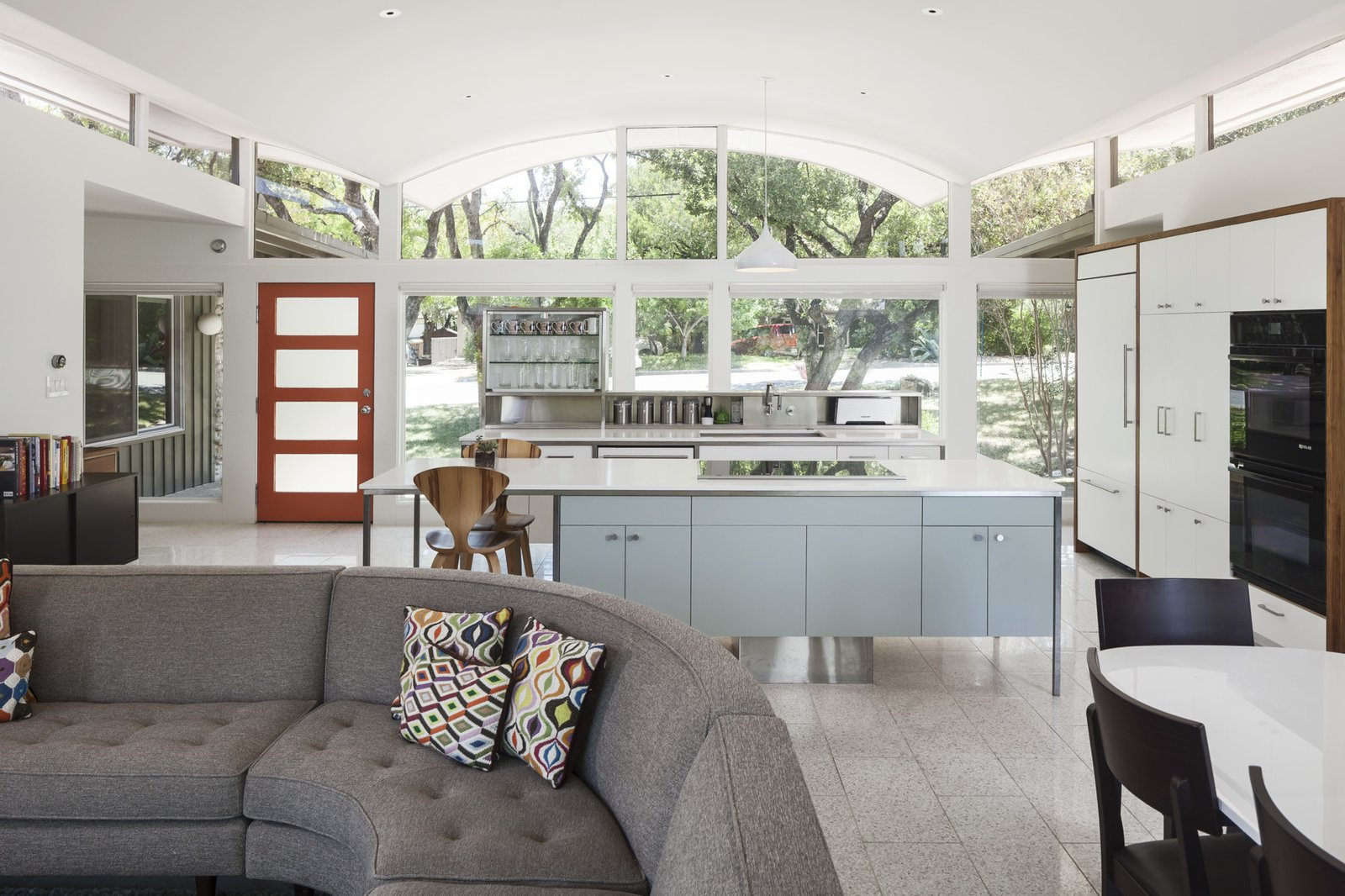 Tagged: Kitchen, Ceramic Tile Floor, White Cabinet, and Laminate Cabinet.  Butter Fly House : A. D. Stenger by Creede Fitch