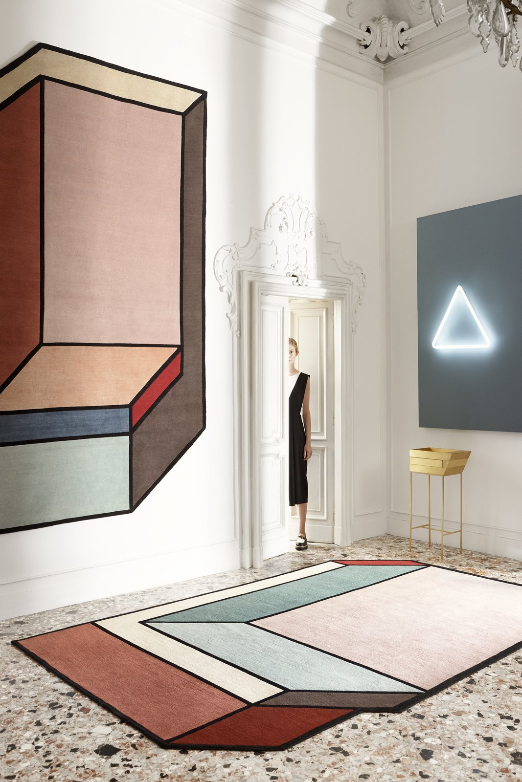 Visioni Series: Designed by Patricia Urquiola for CC Tapis  How to Frame Space With a Graphic Rug by Aileen Kwun from Rugs