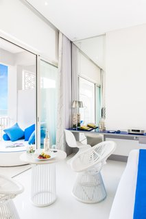 GM Architects' Latest Project: Harmonizing Two Distinct Mediterranean Identities - Photo 2 of 6 - The standard chamber suites at the Sofitel Tamuda Bay are punctuated with stunning views of sky and sea out their balcony windows.
