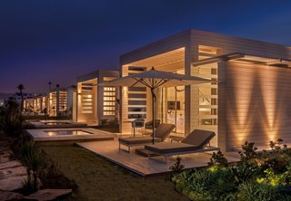 GM Architects' Latest Project: Harmonizing Two Distinct Mediterranean Identities - Photo 6 of 6 - The hotel's private terraces are the perfect spot to enjoy a warm night in on the coast.