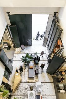 A Retired Copenhagen Power Plant Hosts a Design Pop-Up - Photo 1 of 4 - A bird's eye view reveals how the once utilitarian space has been transformed into a gallery setting.