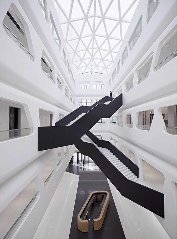 Photo 1 of 4 in Chinese design firm Hallucinate created a futuristic office for Maike Group