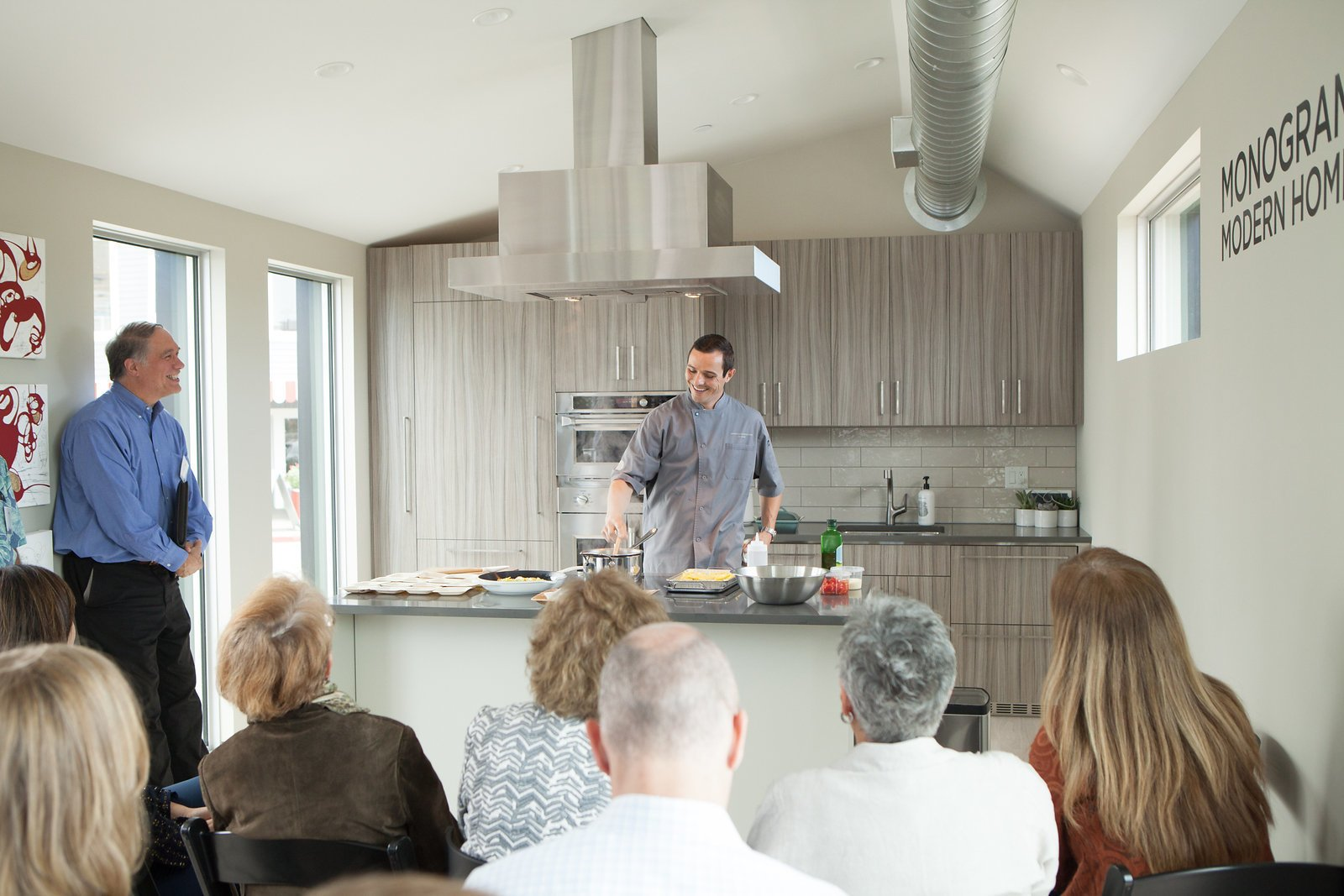 Live product demonstrations led by tour chef Jon provided a way for visitors to learn about Monogram's offerings in a relaxed, organic environment.  Photo 6 of 9 in Monogram Modern Home Tour Takes On the West Coast