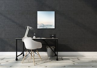 "The canvas comes in four sizes: 24"" x 24"", 24"" x 36"", 36"" x 36"", and 36"" x 48"". Soundwall also honors custom orders in size and material and allows you to upload your own images."