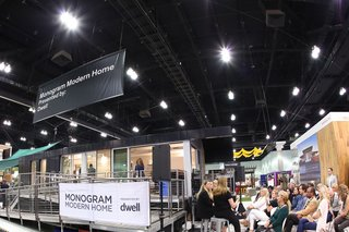 The home joined over 300 exhibiting brands and 2,000 modern furnishings and products at Dwell on Design. The prefab's builder, Method Homes, also staffed an adjacent booth on the show floor.