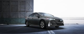The Joy Factor: A New Approach to Hybrid Car Design - Photo 4 of 6 - Prius Prime has a large acrylic grille that masks the radiator cooling openings; when cooling isn't necessary, a flap closes for better aerodynamics. The inspiration for the front view was Toyota's Mirai, creating a cohesive look across product lines.
