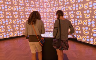 Cooper Hewitt Creates an Immersive Utopia at the First London Design Biennale - Photo 2 of 7 - Using the Pen, guests can browse the museum's reserve of historic and contemporary wallpapers or create their own designs to be projected in the room.