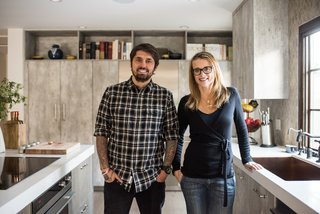 """Chef Ludo Lefebvre's Modern Kitchen With Rustic Roots - Photo 7 of 7 - """"Life for our family happens around the kitchen,"""" says Lefebvre. """"Whether we are sitting at the counter having breakfast, or my family is anxiously awaiting me to finish cooking dinner, we can be together around food."""""""