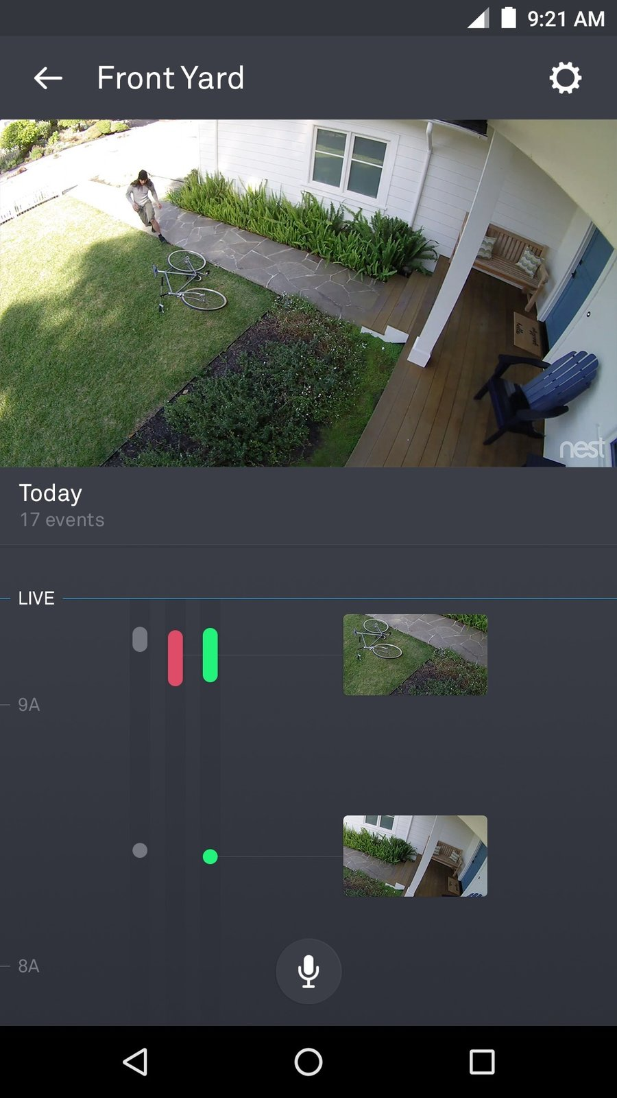 All Nest Cam owners get a free 3-hour video history with Sightline. Nest Aware subscribers are able to scroll further through a continuous timeline with key moments highlighted through frames. Sightline allows users to zoom in on and replay important moments and delineate Activity Zones to monitor.