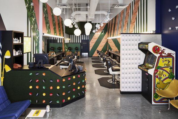 """Birds Barbershop at Rock Rose is the salon's eighth location in Austin. The Houston site, also designed by Mark Odom Studio, will have an """"old-school urban"""" theme."""