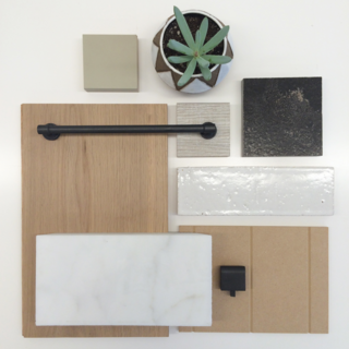 "A Sneak Peek Into an Interior Designer's ""No Ordinary Kitchen"" Renovation - Photo 3 of 8 - Material samples leap from the mood board into reality."