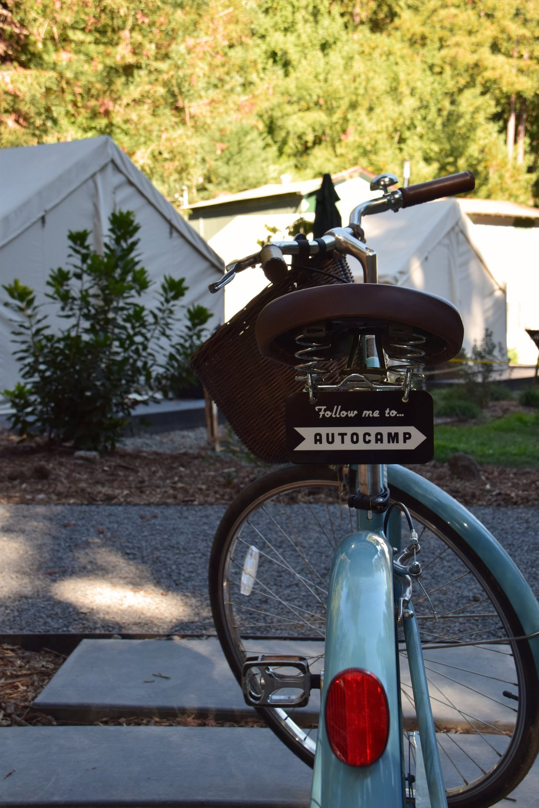A number of bicycles circulate through AutoCamp, offering guests the chance to ride their way to downtown Guerneville.  Photo 11 of 11 in At AutoCamp, Sleep in a Slice of Americana for $225 a Night