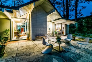 With Only One Previous Set of Owners, a Pristine Eichler Home Asks $799K - Photo 12 of 12 - The quarter-acre lot includes several patio areas and a barbecue, and has plenty of space for a potential pool.