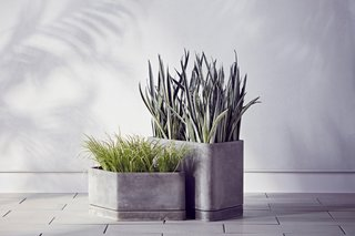 The Dwell x Target Lookbook Reveals a Sleek New Collection for the Modern Home - Photo 7 of 9 - The Large and Small Hexagonal Concrete Planters are $89.99 and $69.99, respectively.