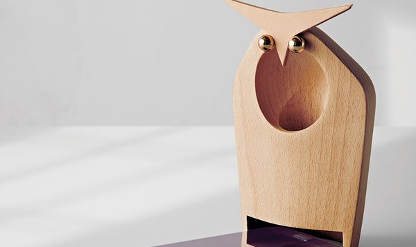 Modern by Dwell Magazine Owl Speaker Figural in Natural