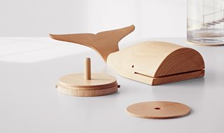 Modern by Dwell Magazine Whale Coaster Figural in Natural