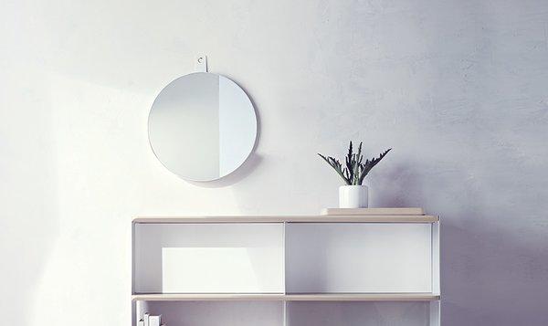 Modern by Dwell Magazine Round Metal Shelf Mirror