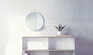 Modern by Dwell Magazine Round Metal Shelf Mirror