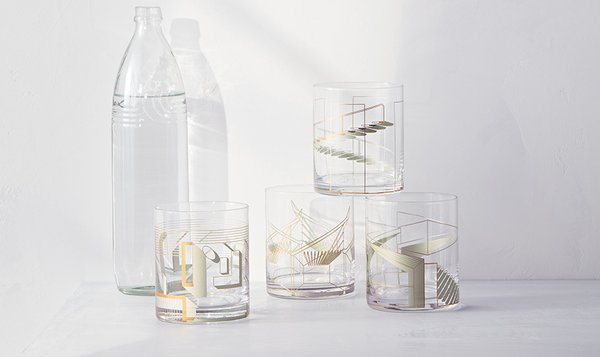 Modern by Dwell Magazine Metallic Cocktail Glasses