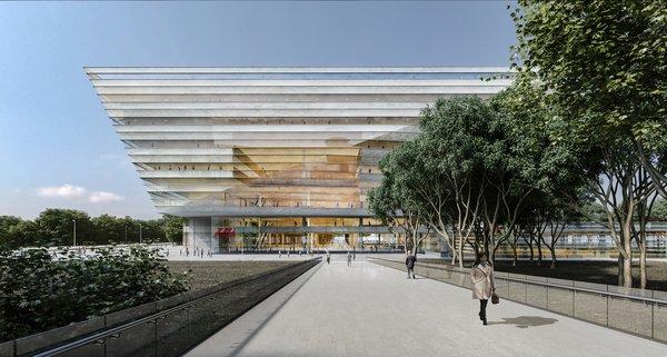 Photo 1 of 8 in Schmidt Hammer Lassen Architects' Winning Design For the Shanghai Library