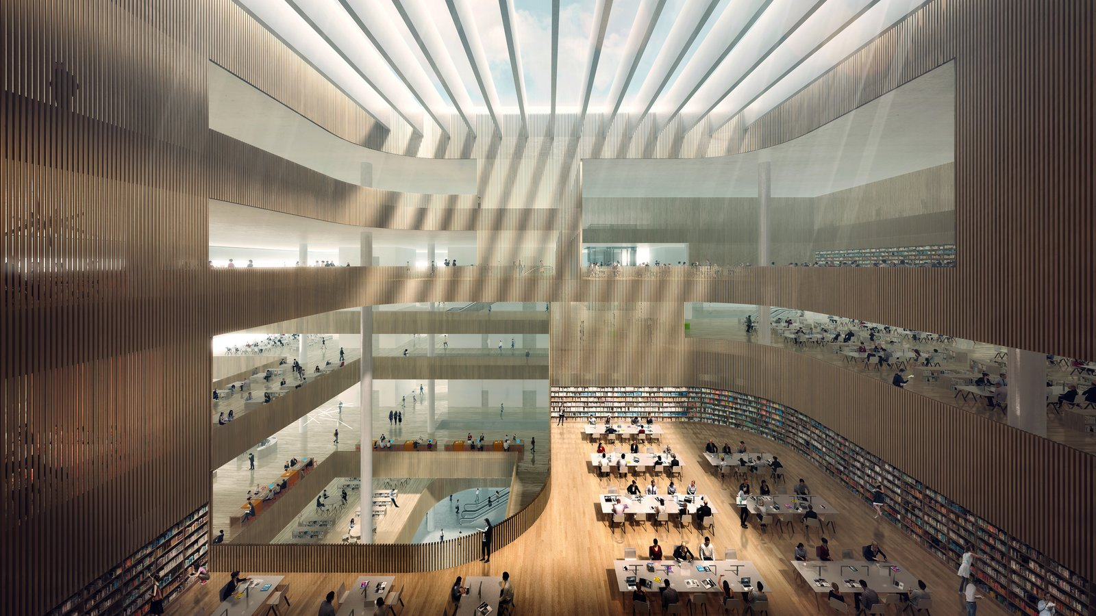 Photo 3 of 8 in Schmidt Hammer Lassen Architects' Winning Design For the Shanghai Library