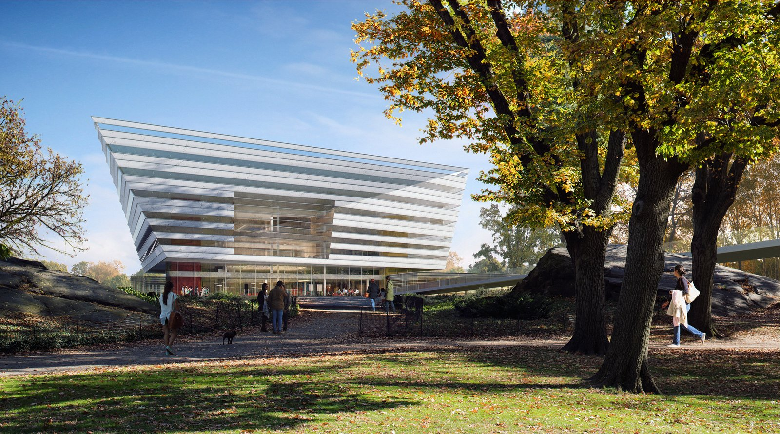 The Shanghai Library visually reads like the  Photo 2 of 8 in Schmidt Hammer Lassen Architects' Winning Design For the Shanghai Library