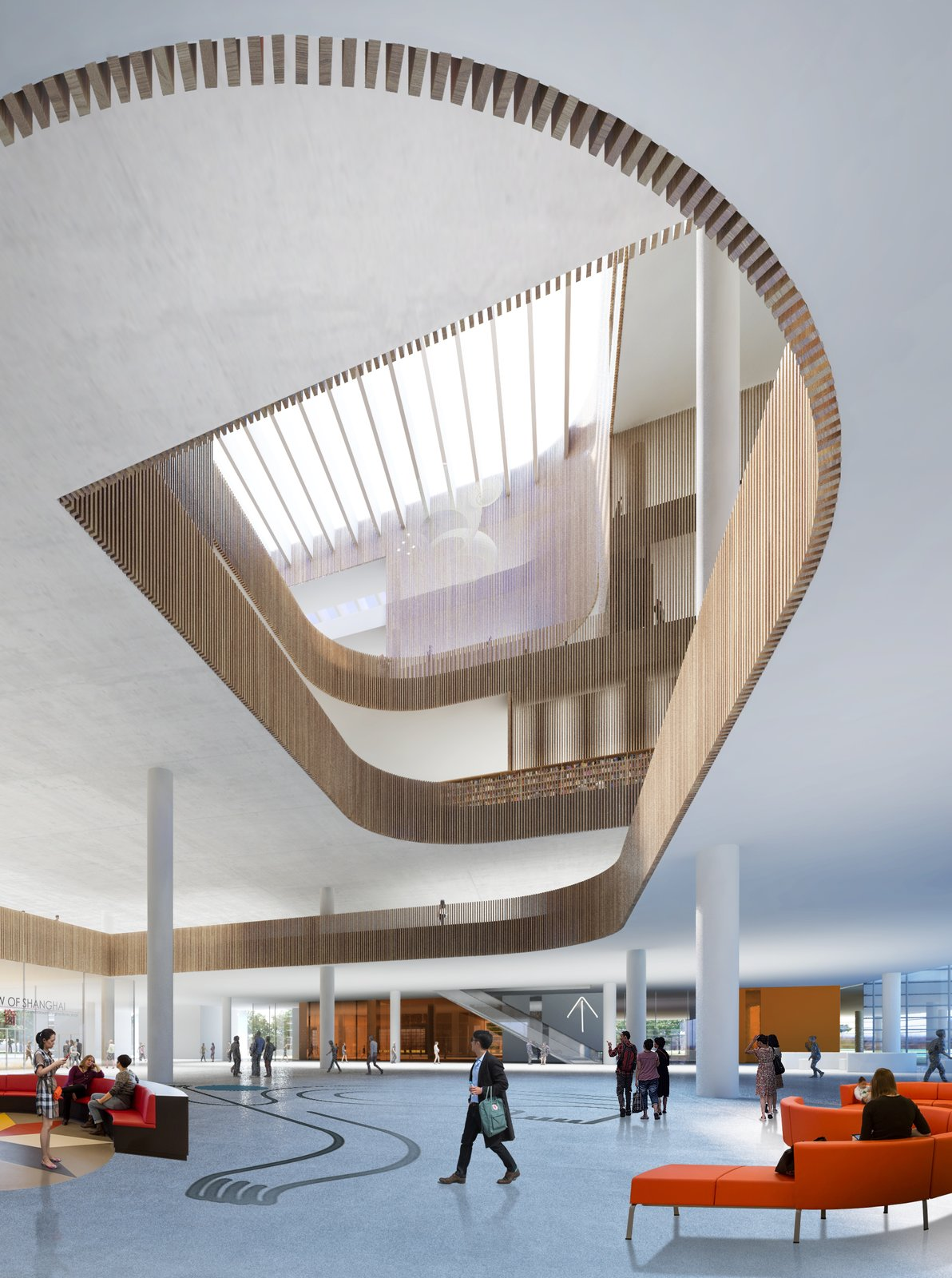 Photo 7 of 8 in Schmidt Hammer Lassen Architects' Winning Design For the Shanghai Library
