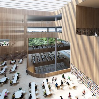 Schmidt Hammer Lassen Architects' Winning Design For the Shanghai Library - Photo 5 of 7 - The Shanghai Library will also house the Shanghai Institute of Scientific and Technological Information.