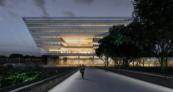 Concurrently, Schmidt Hammer Lassen is at work on the New Central Library for Ningbo in East China; a renovation of the Victoria State Library in Melbourne, Australia; and a new Central Library in Christchurch, New Zealand.  Photo 8 of 8 in Schmidt Hammer Lassen Architects' Winning Design For the Shanghai Library