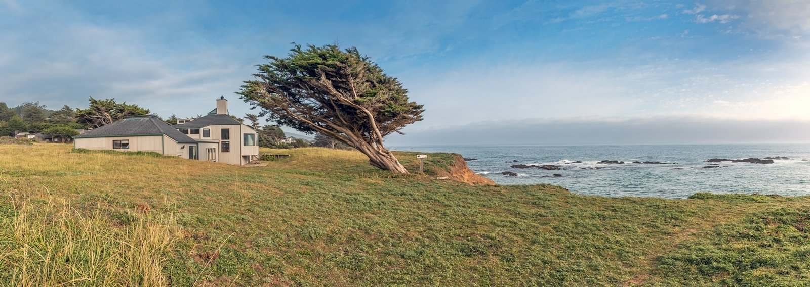 Sea Ranch master planner Lawrence Halprin envisioned an ecologically-minded community that wouldn't disturb the breathtaking natural surroundings of the coast. Charles Moore's design nestles into the land.  Photo 12 of 12 in Settle in the Celebrated Sea Ranch For Under $2.9M