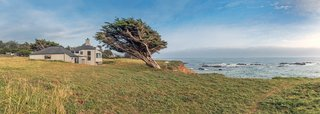 """Settle in the Celebrated Sea Ranch For Under $2.9M - Photo 11 of 11 - Sea Ranch master planner Lawrence Halprin envisioned an ecologically-minded community that wouldn't disturb the breathtaking natural surroundings of the coast. Charles Moore's design nestles into the land. """"There is nothing flashy—or tall or garish—about the house; it is sturdy, solid,"""" says Owings."""