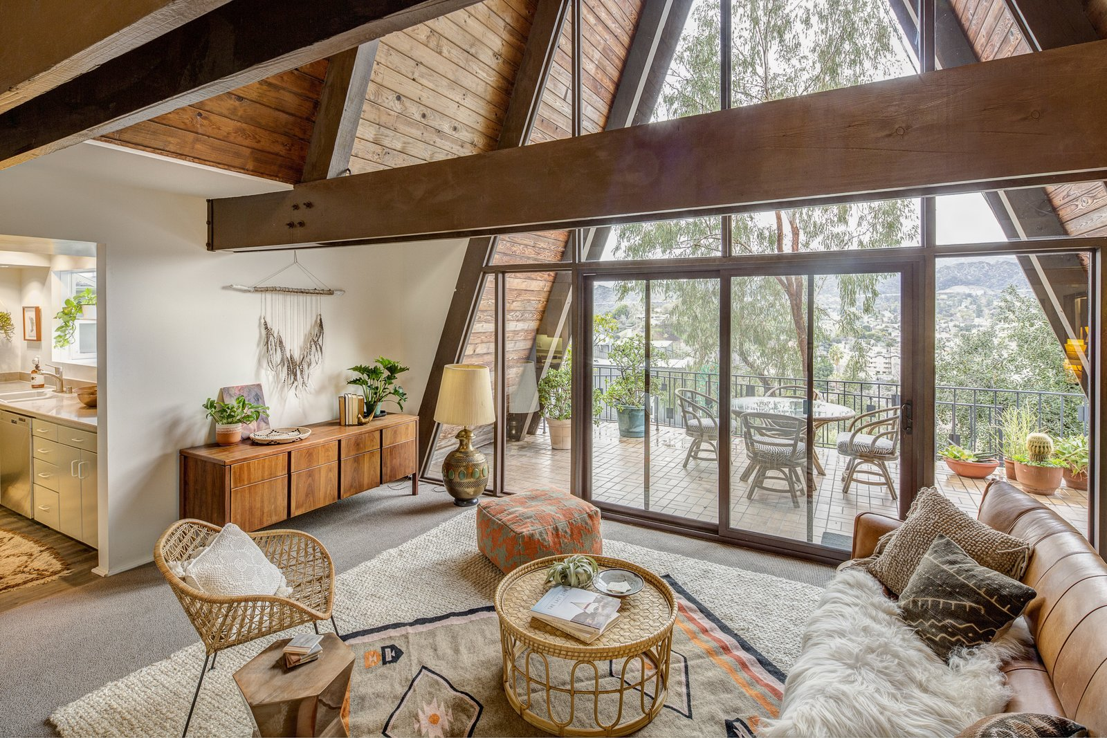 Photo 1 of 10 in A Modified A-Frame Overlooking Los Angeles Starts at $699K
