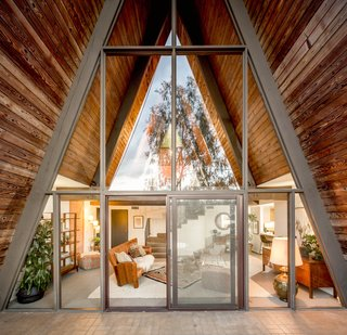 For musicians, the home's structure is a boon, as the A-shape makes for great acoustics.