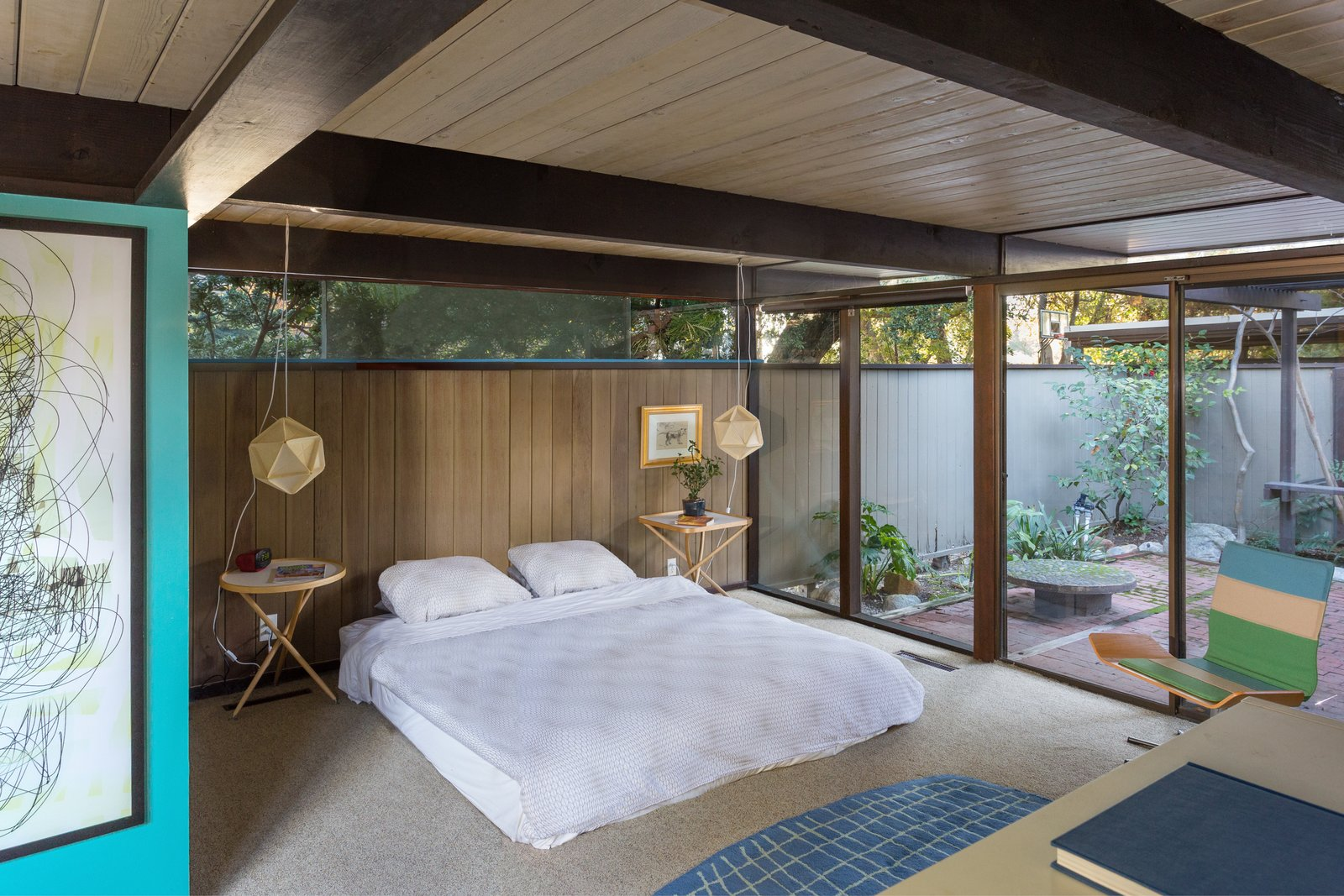 The master bedroom has the benefit of a private courtyard.