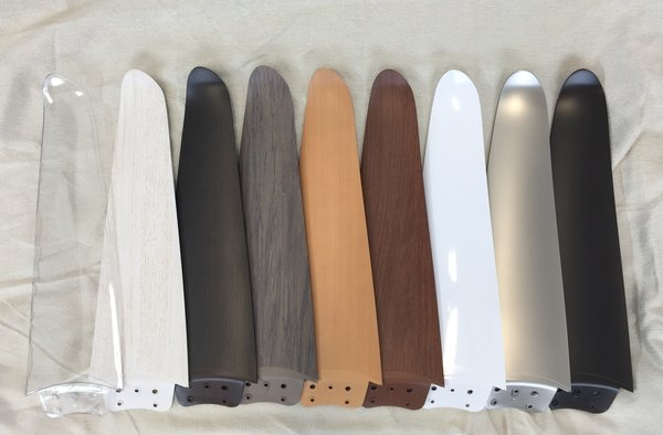 The Modern Fan Company provides an array of finishes that help the fan complement its setting.