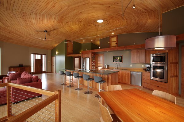 LED lighting and bamboo counters, interior doors, and flooring accentuate the home's green attributes.