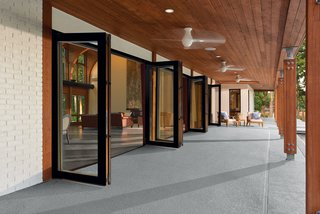 How to Set the Stage For Outdoor Living With Scenic Doors - Photo 2 of 5 - Marvin Ultimate Bi-Fold Doors are available in ample sizes and configurations with handsome, exclusive hardware finishes ranging from oil-rubbed bronze to antique brass.