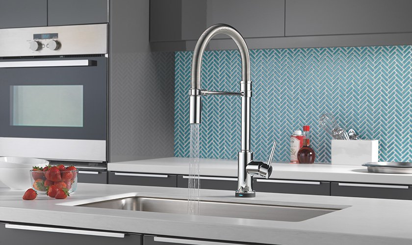 Delta Pull Down Kitchen Faucet delta® faucet trinsic® pro single-handle pull-down kitchen faucet