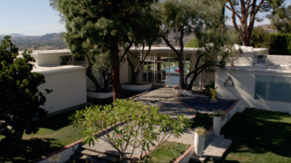 Here's How Hollywood Builds a Malibu Dream Home—on a Vancouver Soundstage - Photo 10 of 10 - For the headquarters of the Institute of the Higher Mind—the organization that holds Kyle West in its grip—the crew filmed at the Fox Residence in Chatsworth, the stunning midcentury home where Frank Sinatra used to live.