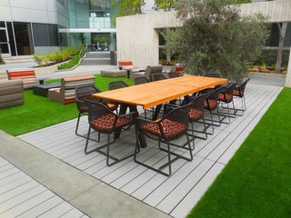 Drawing the Line: Concrete Pavers That Advance Architectural Design - Photo 4 of 7 - A commercial space in San Mateo, California, boasts Large Scale CalArc Pavers that echo the structural lines of the aluminum- and glass-clad building.