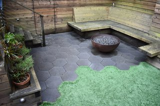 Drawing the Line: Concrete Pavers That Advance Architectural Design - Photo 7 of 7 - Hexagonal Pavers glisten in a drought-tolerant garden, creating a stunning contrast against the turf.