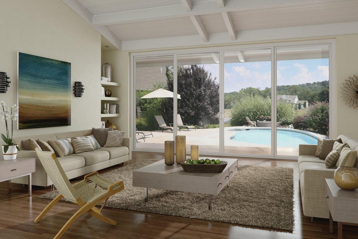 The Milgard Tuscany® Series vinyl patio doors come in 10 exterior frame colors ranging from silver to espresso. The French sliding doors shown above are also available in a hinged, swing style and can be customized with grid patterns.  Photo 8 of 10 in 10 Outdoor Living Trends That Bring Homeowners Blissfully Close to Nature