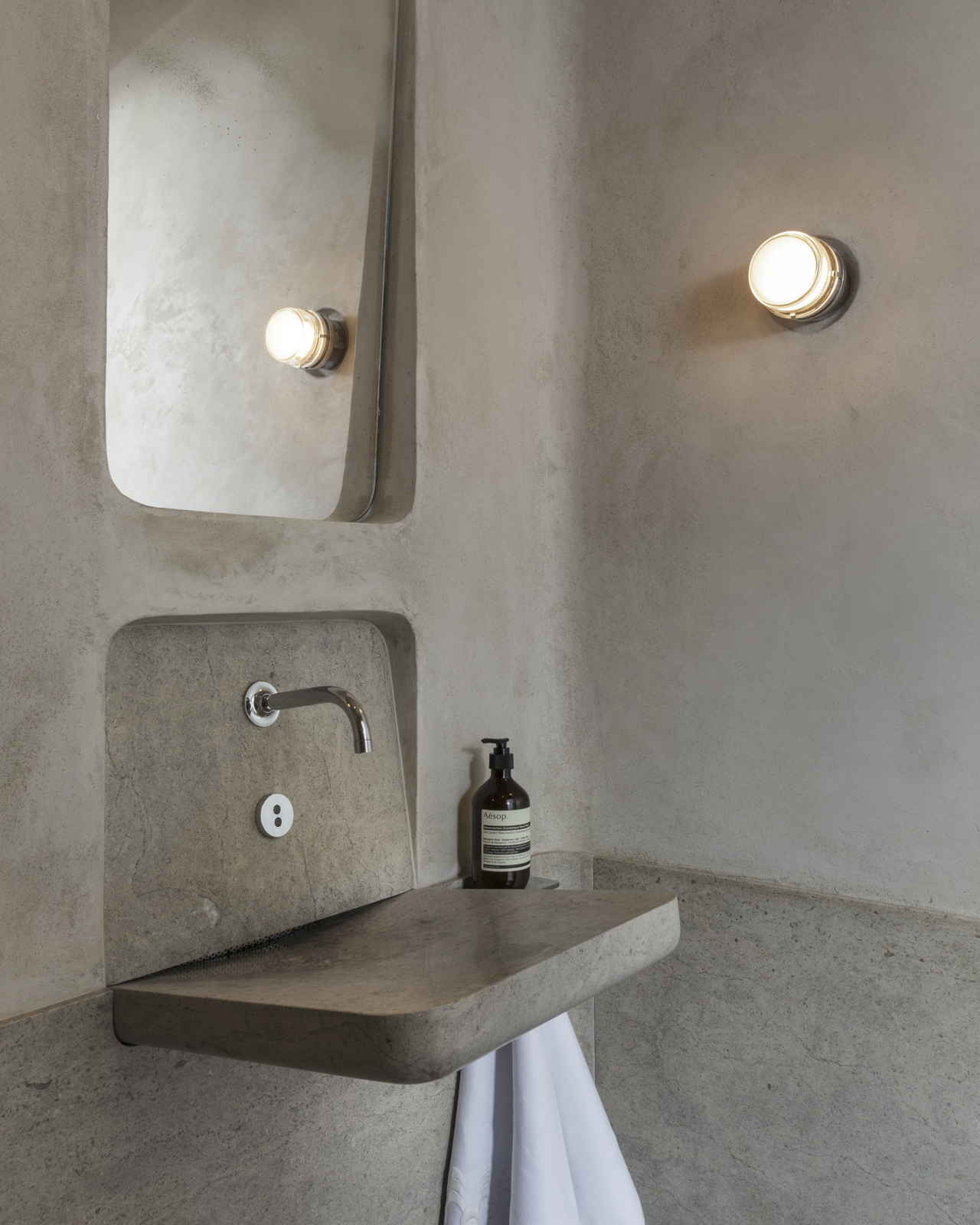 Inspiration for the Powder Room by David Bjorngaard and Stephen Stout came from trips to Rome and Milan.