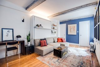 """Big on Broadway, Small on Space: Inside the Studio of Actor Adam Kantor - Photo 3 of 5 - """"The room is constantly changing,"""" says Kantor. """"The Swing allows me to have a sizeable living room and transform that into a sizeable bedroom."""""""
