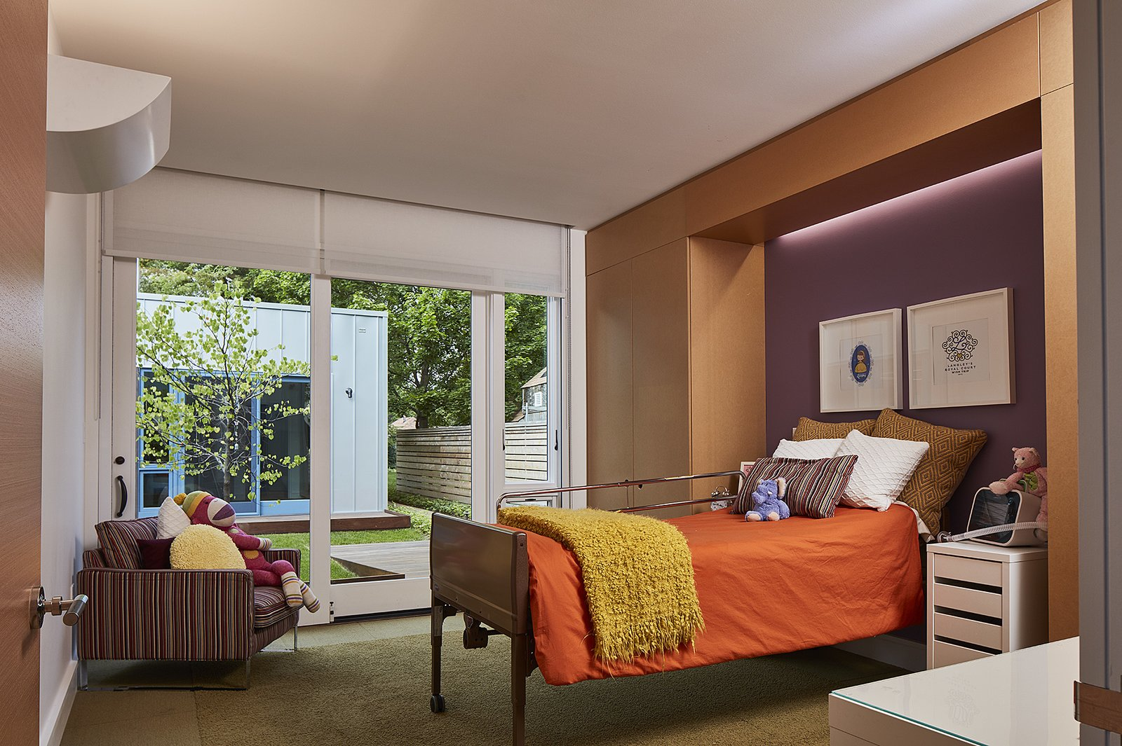 The children's bedrooms have access to their own shared courtyard.